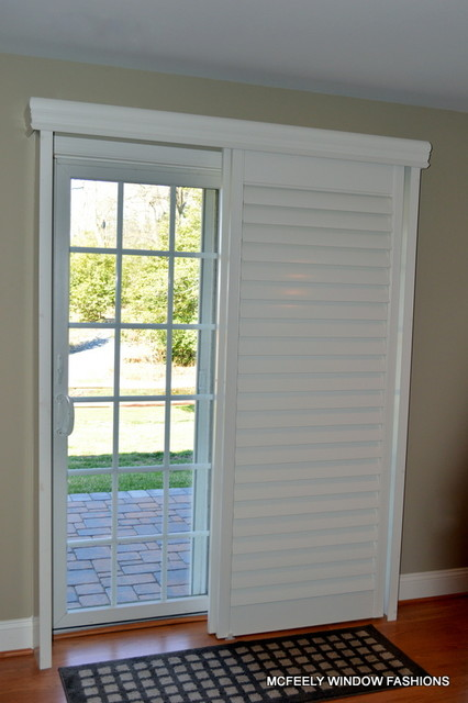 plantation shutters for sliding glass doors lowes door county roller blinds reviews