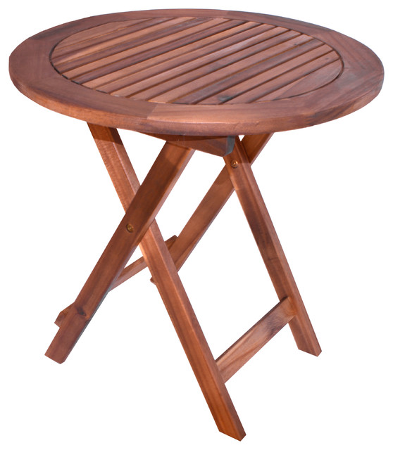 oasis outdoor round folding table