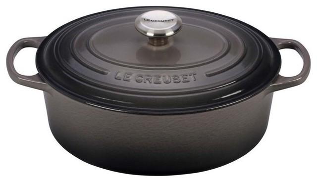 Le Creuset 5 Quart Signature Oval Dutch Oven, Oyster.