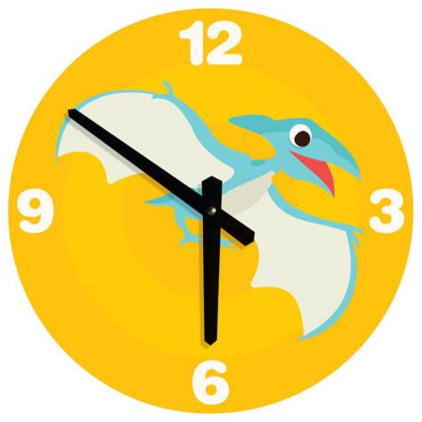 Shop Houzz   Nursery Code LARGE WALL CLOCK for kids- Dinosaur ...