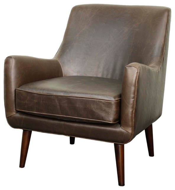 Zoe Bonded Leather Armchair Midcentury Armchairs And Accent Chairs By New Pacific Direct Inc