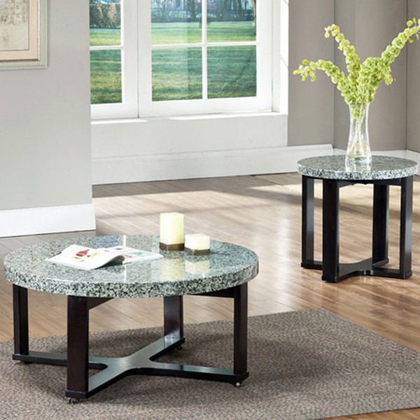 Silver Coffee Table New Zealand: Steve Silver Gabriel 2 Piece Marble Top Coffee Table Set W
