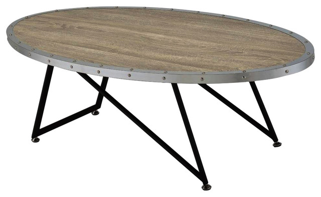 Awe Inspiring Vintage Coffee Table Weathered Gray Oak Home Interior And Landscaping Ferensignezvosmurscom