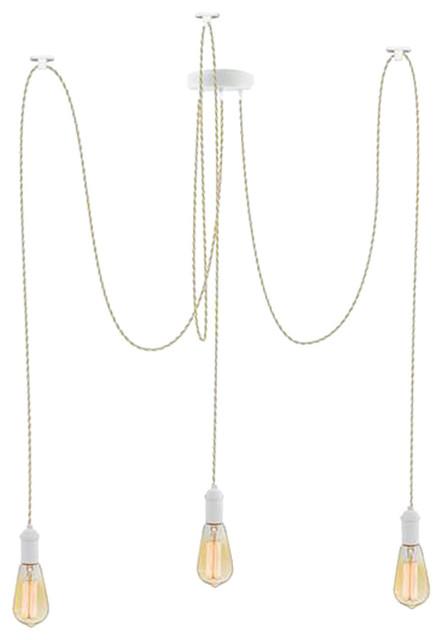 Beige And White Pendant Light Chandelier