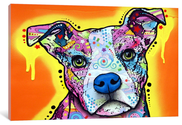 """""""serious Pit"""" By Dean Russo, 60x40x1.5""""."""