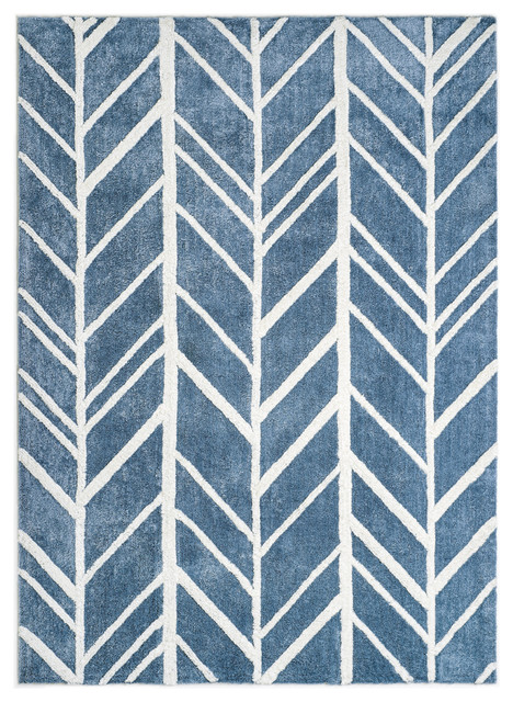 Linsdale Area Rug, Blue, 5&x27;x7&x27;.