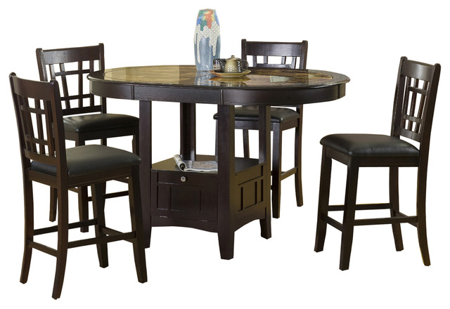 Home Source Charleston 5 Piece Dining Set Craftsman Sets By Industries