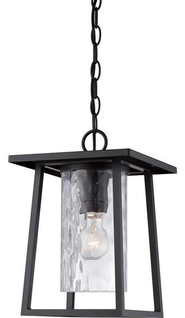 Quoizel Lighting Ldg1909k Lodge Outdoor Hanging Light In Mystic Black.
