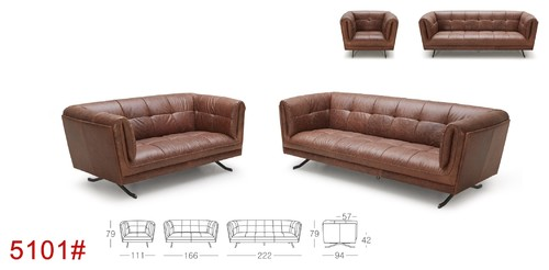 Kourtney Quilted Side Leather Sofa By Kuka Furniture