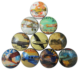 of 10 Vintage Style Airplane Cabinet Knobs - Cabinet And Drawer Knobs ...