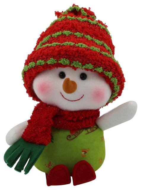 Skiing Girl Snowman.