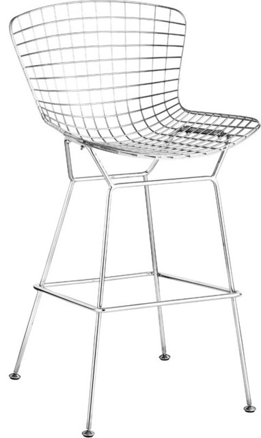 Chrome Wire Bar Chair, Set of 2
