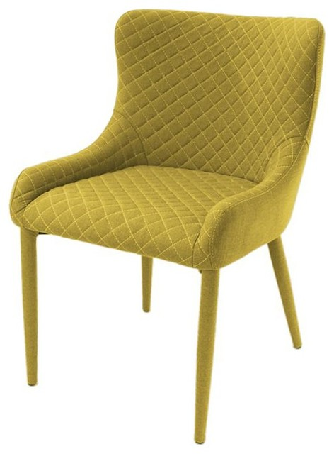 Romvos Arena Modern Dining Chair, Yellow