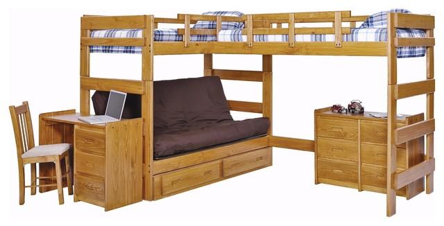 Boone Sleeps 3 Or 4 Higher L Shape Loft Craftsman Loft Beds