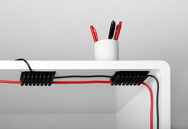 home office cable management. cablox modern home office cable management