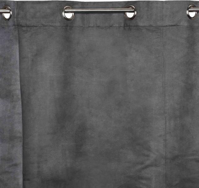 Eyelet Curtain Montana, Dark Gray, 55.1x106.3.