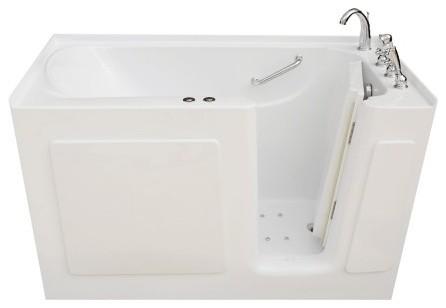 """Pinnacle Bath, 54""""x30"""" Walk-In Whirlpool Air Combo Bathtub, Right Drain."""