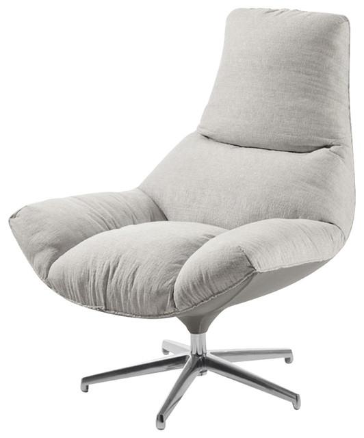 Nuvola Contemporary Armchair, Grey