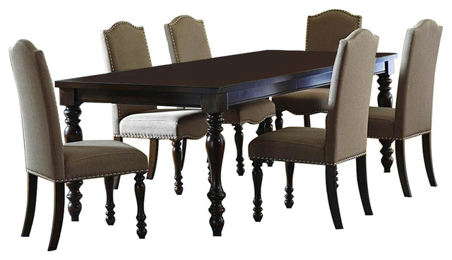 Homelegance Benwick 7-Piece Rectangular Dining Room Set in Dark ...