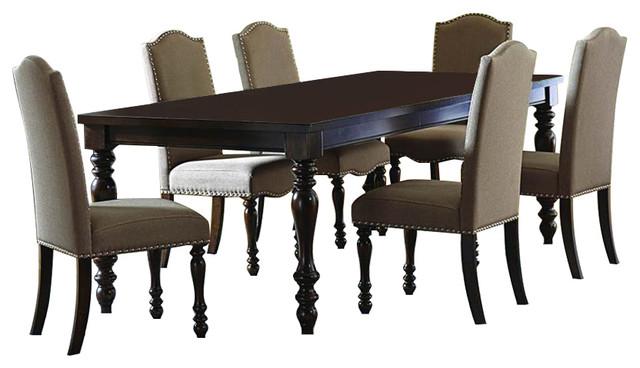 Homelegance Benwick 7-Piece Rectangular Dining Room Set, Dark Cherry