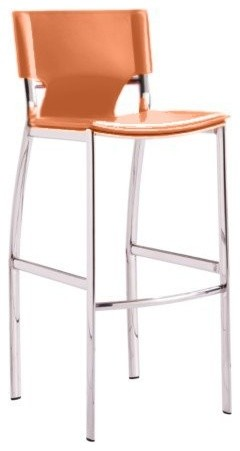 Venice Leather 25 Counter Stool Set Of 2 Contemporary Bar