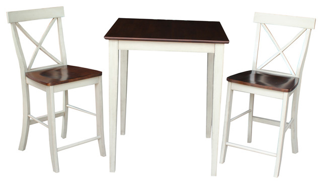 International Concepts Ralph Counter Table With X Back