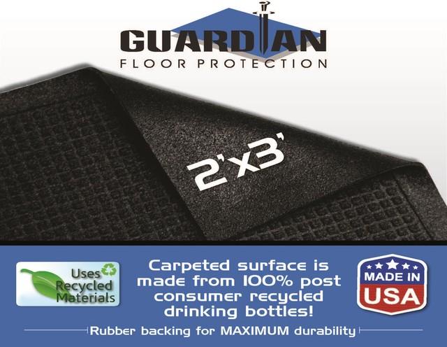 Guardian Ecoguard Indoor Wiper Floor Mat, 2&x27;x3&x27;, Charcoal.