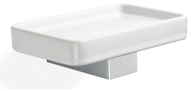 Stilhaus Wall Mounted Ceramic Soap Dish Amp Reviews Houzz