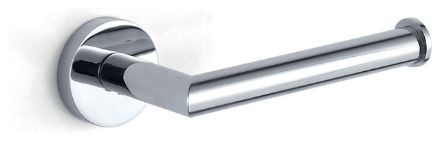 Hotelier Wall Mounted Single Post Toilet Paper Holder, Polished Chrome