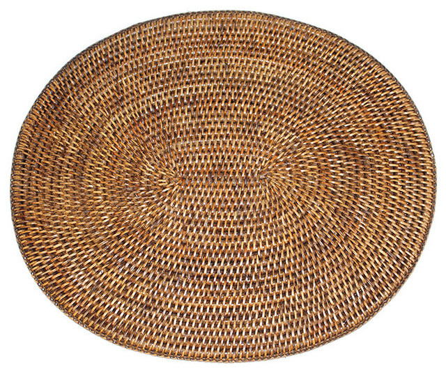 Placemat Oval Brown Beach Style Placemats By Blue