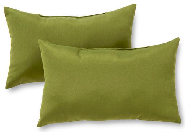 Rectangle Outdoor Accent Pillows, Set of 2, Summerside Green