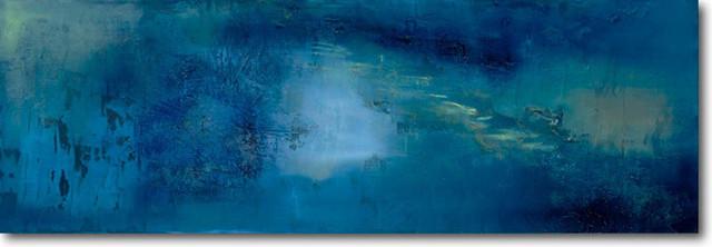 """blue Blast"" Artwork By Christopher Sullivan, 18""x54""."