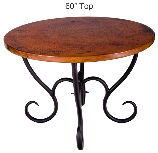 """Milan Dining Table With 42"""" Round Top"""