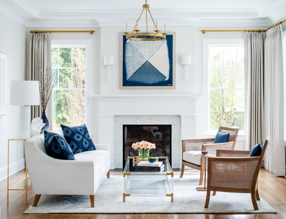 Transitional living room photo in DC Metro