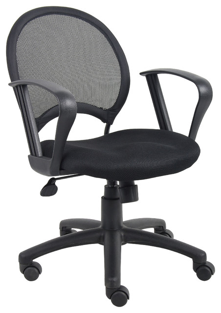 Boss Chairs Boss Mesh Chair With Loop Arms