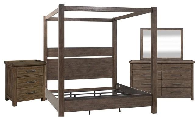 Liberty Sonoma Road 4-Piece Canopy Bedroom Set #61 in Weather Beaten ...