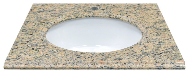 "25"" X 22"" Giallo Veneziano Natural Granite Vanity Top."