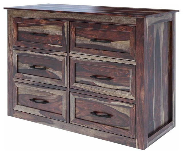 Jamaica 44 Handcrafted Solid Wood 6 Drawer Double Dresser