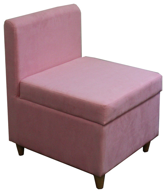 28.5 Tall Accent Chair With Storage, Pink by Ore International