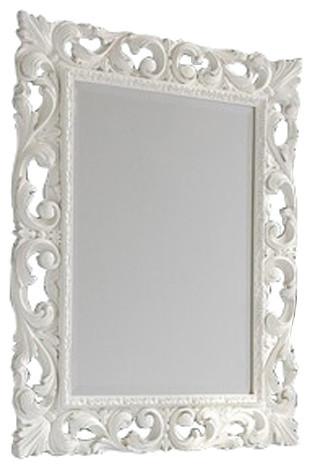 Baroque mirror white victorian wall mirrors by for Baroque bathroom mirror