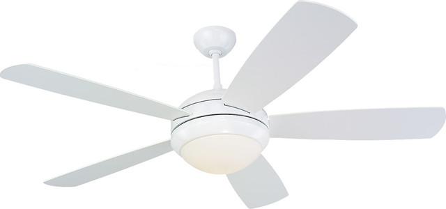 "52"" Discus Fan, White."