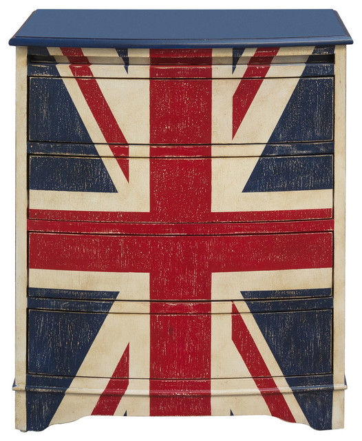 Union Jack Accent Drawer Chest.