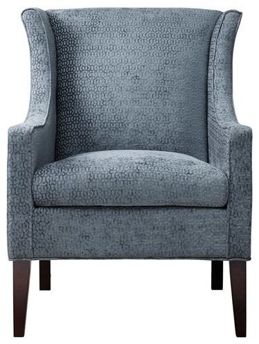 Adaline Wingback Chair, Blue.
