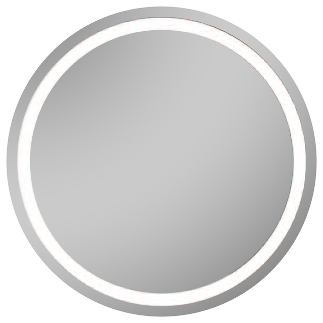 Isa Bagno Oblo Round Mirror With Integrated LED Lighting Modern Bathroom Mirrors