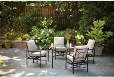 Marvelous Hampton Bay Patio Tables. Barnsley 5 Piece Patio Dining Set With Textured  Silver