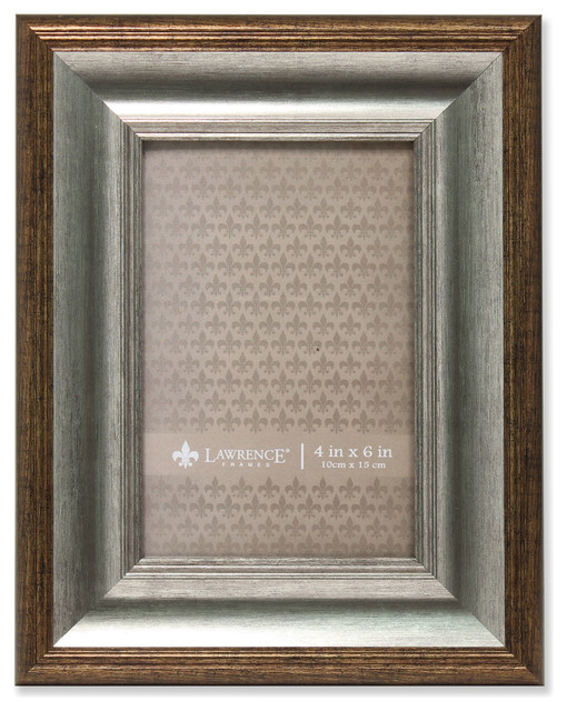 lawrence frames 4x6 tatum silver and gold picture frame reviews houzz. Black Bedroom Furniture Sets. Home Design Ideas