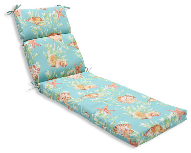 Beach Style Outdoor Cushions : Daytrip Chaise Lounge Cushion - Beach Style - Outdoor Cushions And Pillows - by Pillow Perfect Inc