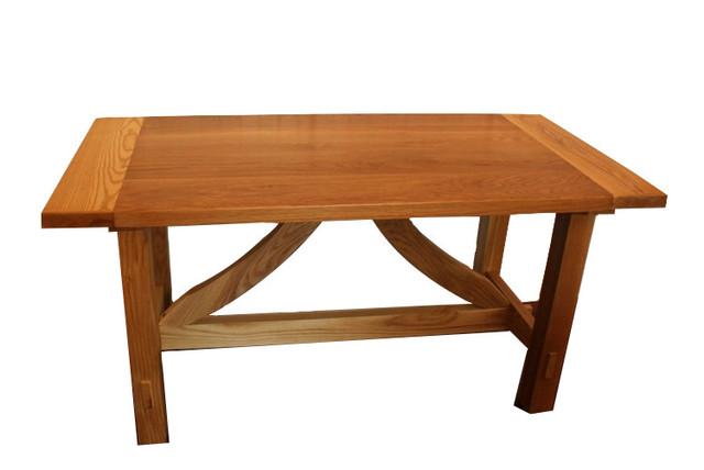 shop houzz burghwood trestle table dining tables. Black Bedroom Furniture Sets. Home Design Ideas
