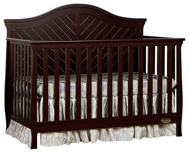 Dream On Me Kaylin 5 in 1 Convertible Crib, Chocolate