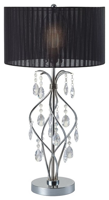 Major Q Faux Crystal Spiral 31 Table Lamp 6378